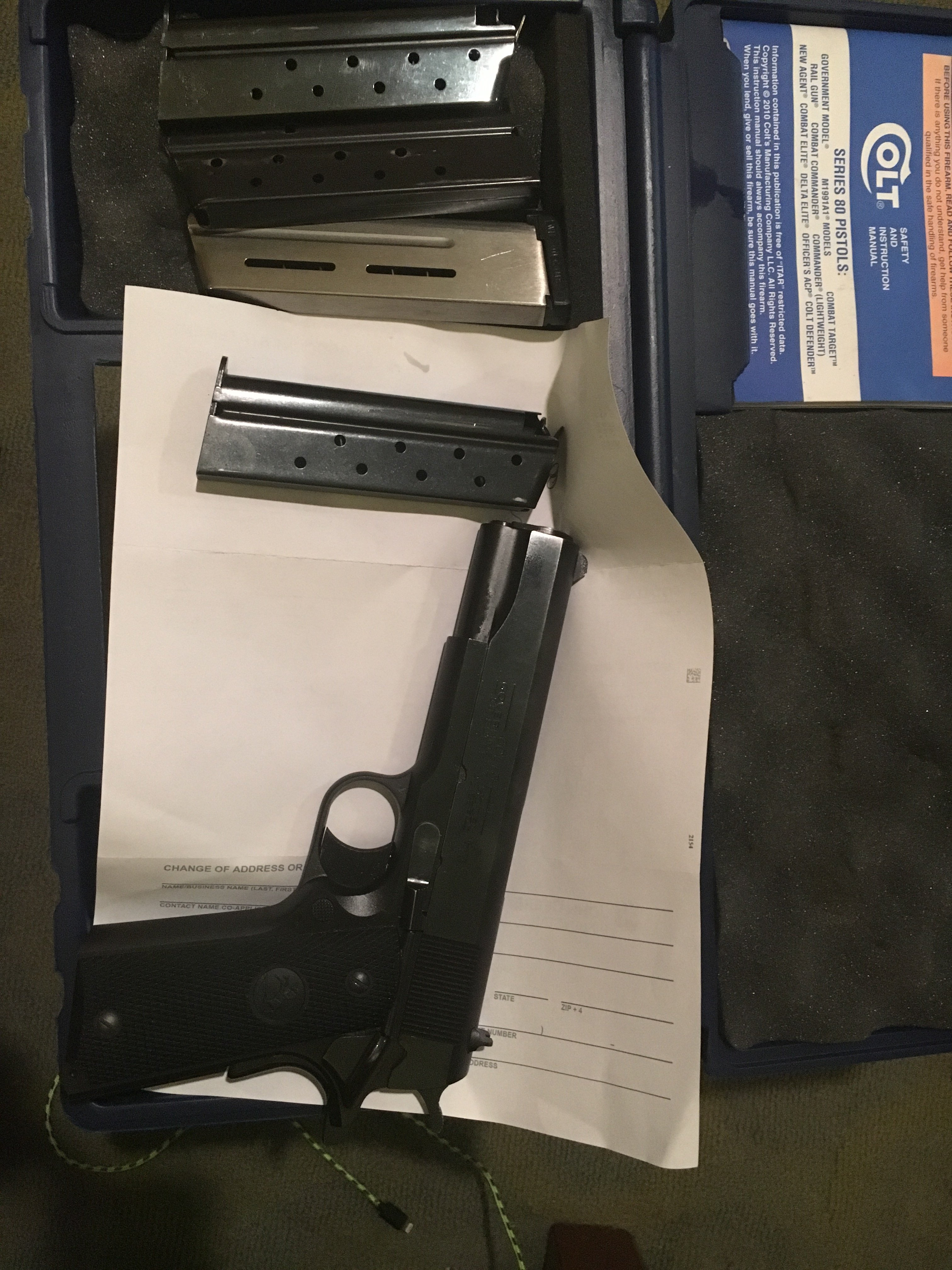 Fifth image of Gun Laws Grenada with Colt GOV, 1911 38 super 80 series | Mississippi Gun Owners ...