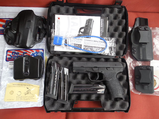 Sold - Walther Creed 9mm Package w/3 Mags, 2 Holster & Mag