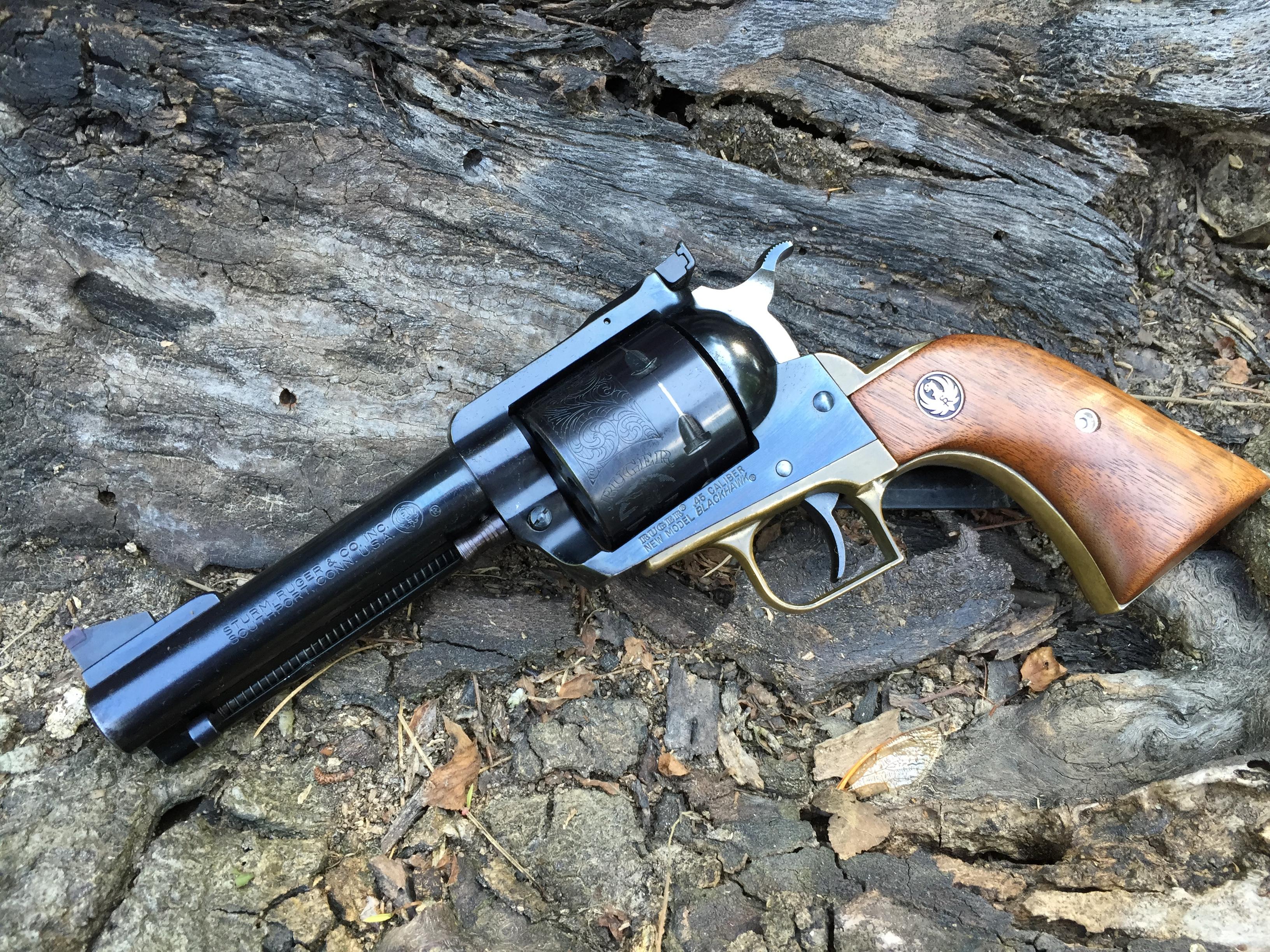 Sold - Ruger Blackhawk 45 w/brass grip frame | Mississippi Gun