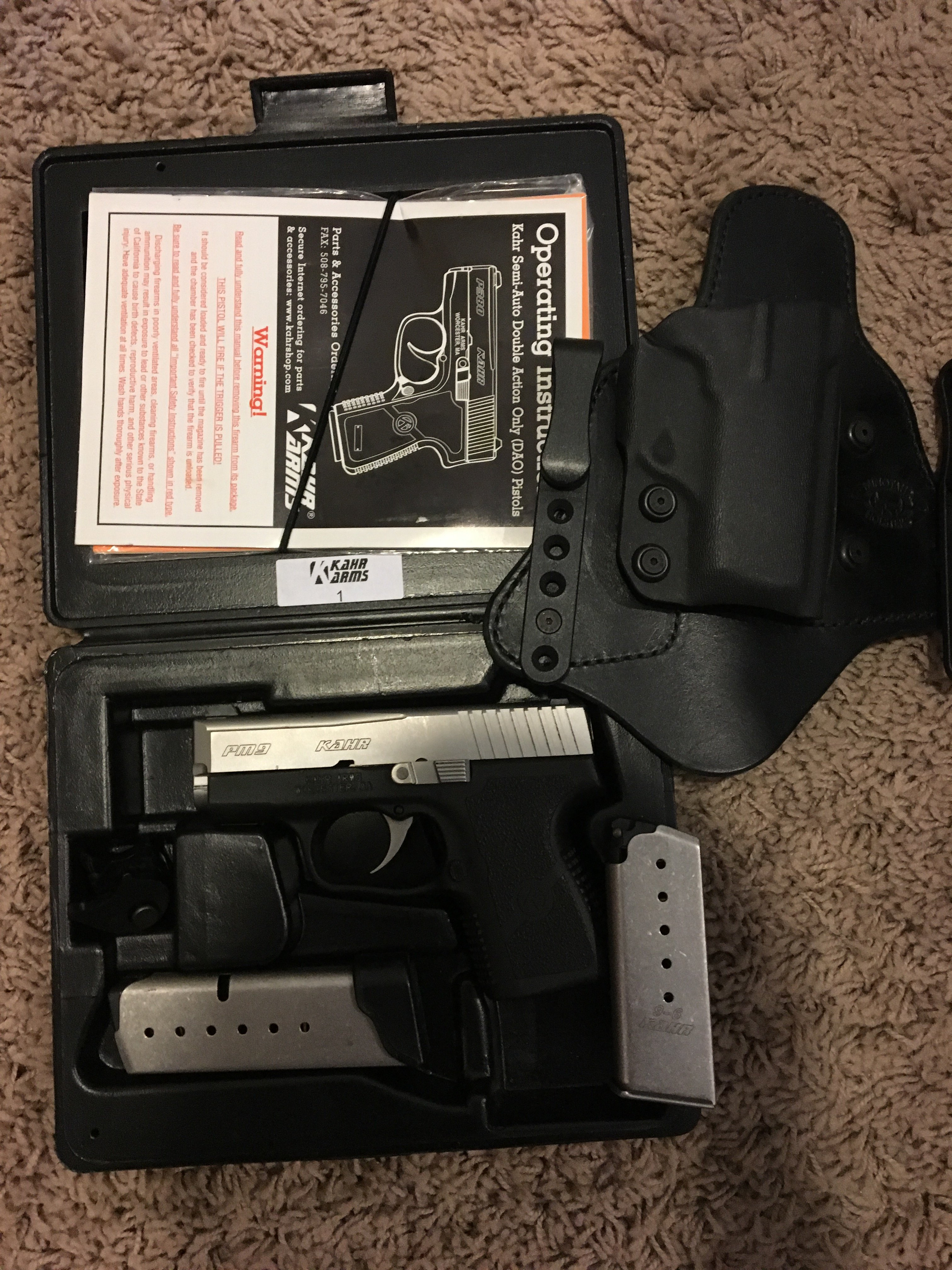 Like new Kahr PM9 w/holster | Mississippi Gun Owners