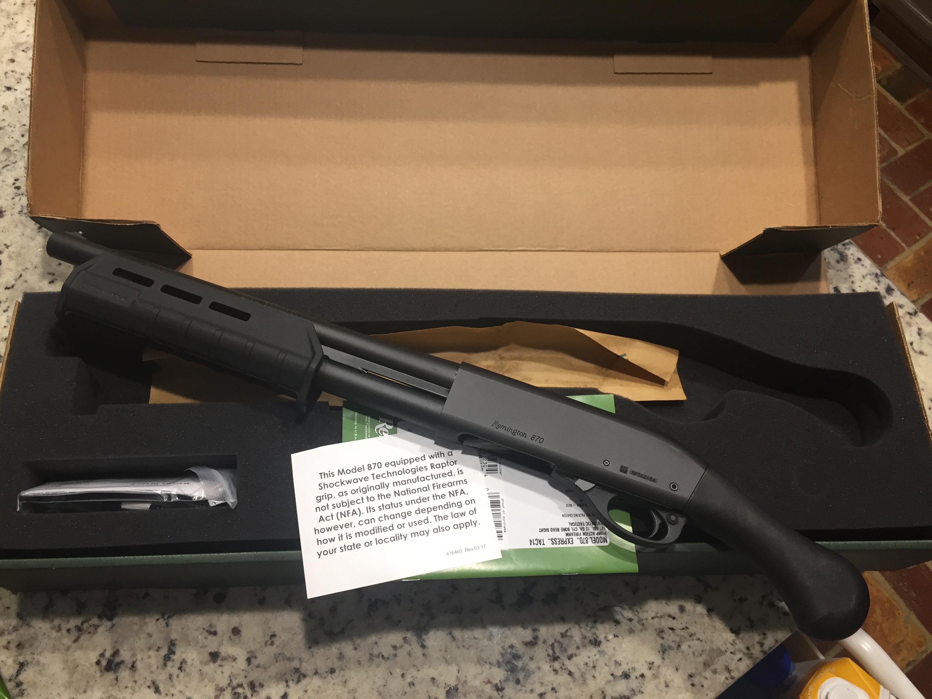 BNIB Remington TAC-14 12 Gauge with Scabbard $340 in Ocean